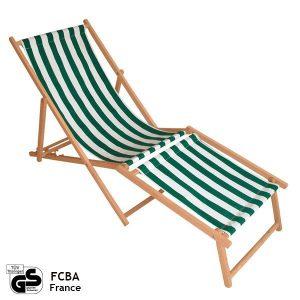 Leżak bez podłokietników z podnóżkiem (klasyczny)
